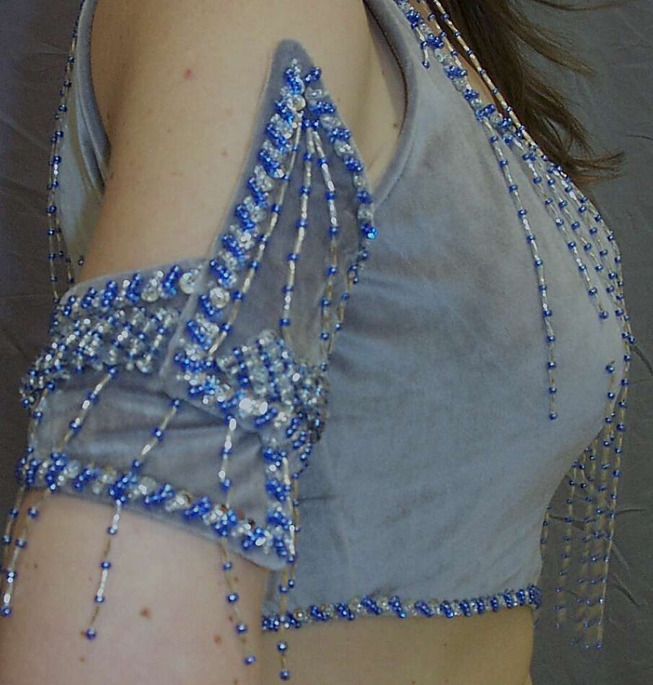 all hand beaded