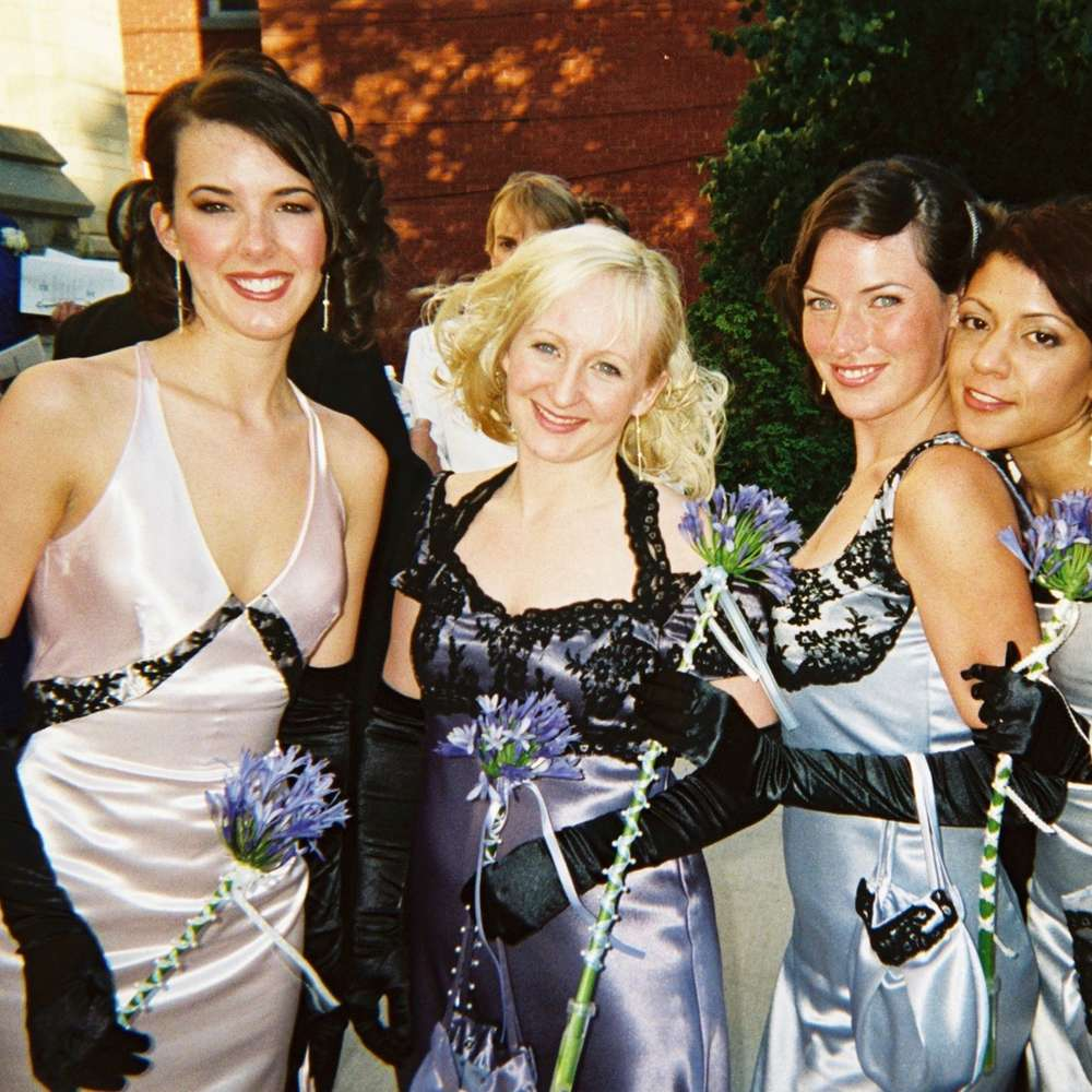 Bridesmaid dresses matching concept and unique for each!