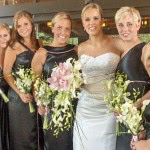 Each bridesmaid had her own style - matching concept.
